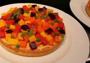 Corstata salata con gelatine di verdure