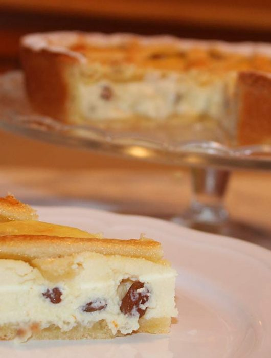 Crostata Ricotta, Uvetta e Pinoli