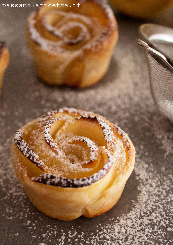 Rose di mele ricetta con pasta sfoglia passami la ricetta - Decorazioni mela ...