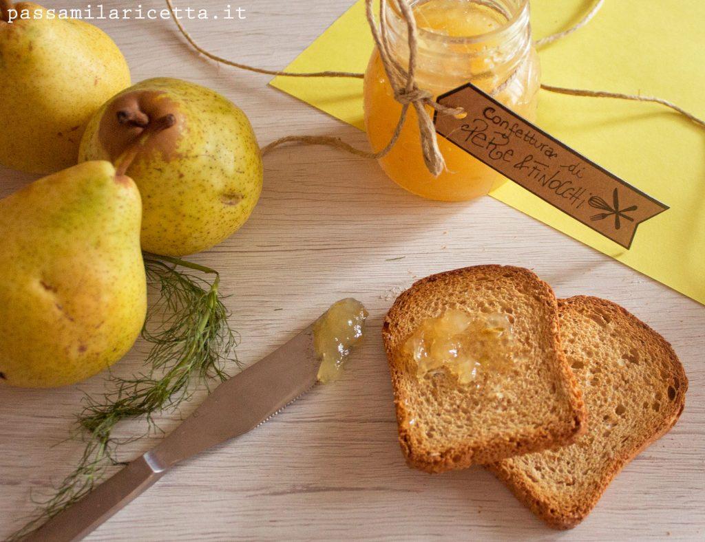 confettura marmellata pere finocchi lime