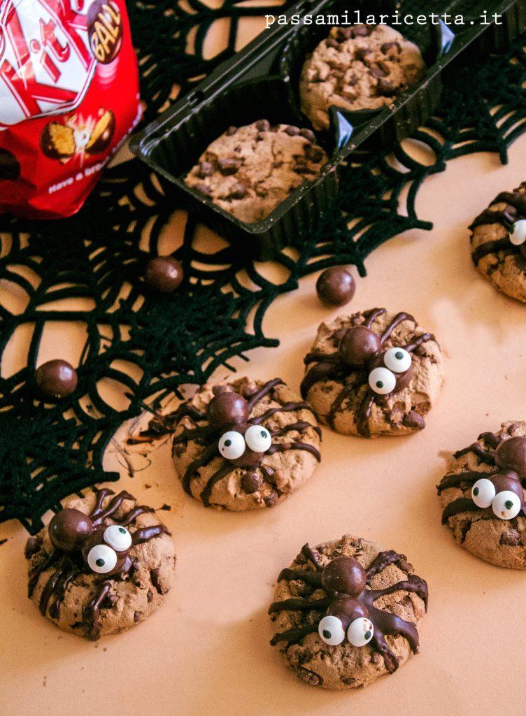 biscotti ragni spider cookies halloween