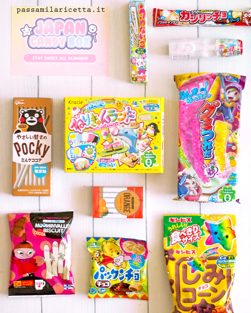 japan candy box contenuto