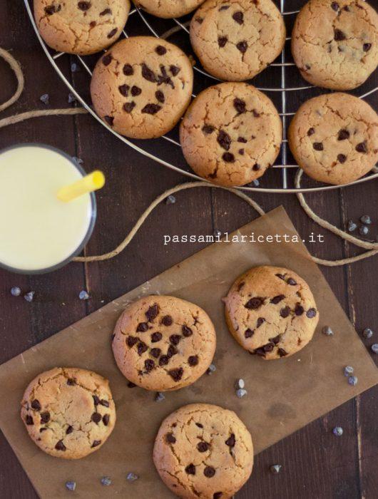 Chocolate chip cookies senza burro
