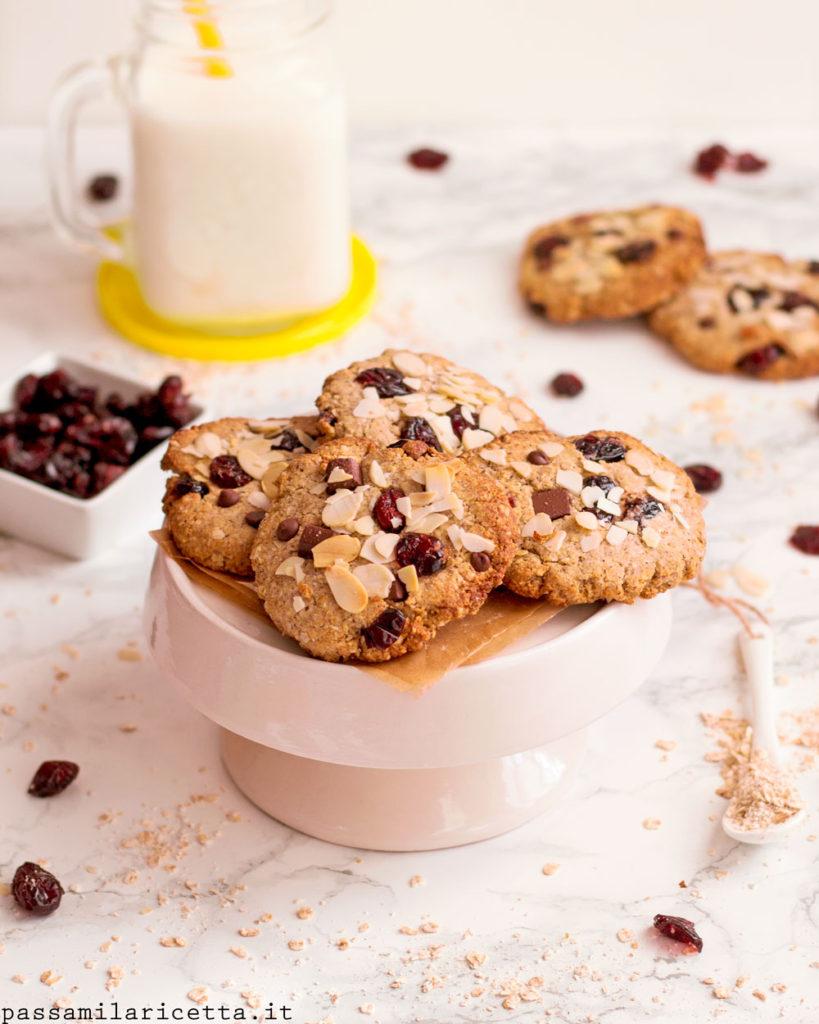 biscotti ai fiocchi d'avena vegan senza zucchero