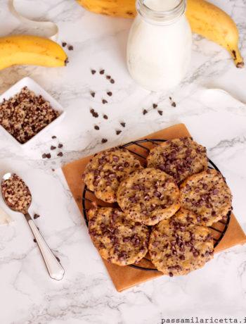 biscotti banana quinoa cotta senza zucchero olio e burro