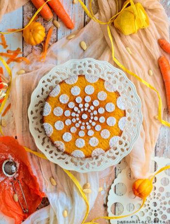 torta di carote e mandorle soffice e senza burro