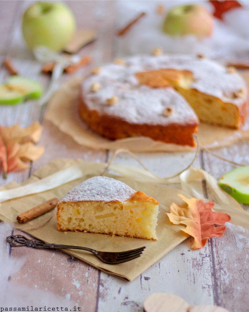 torta di mele e nocciole senza burro