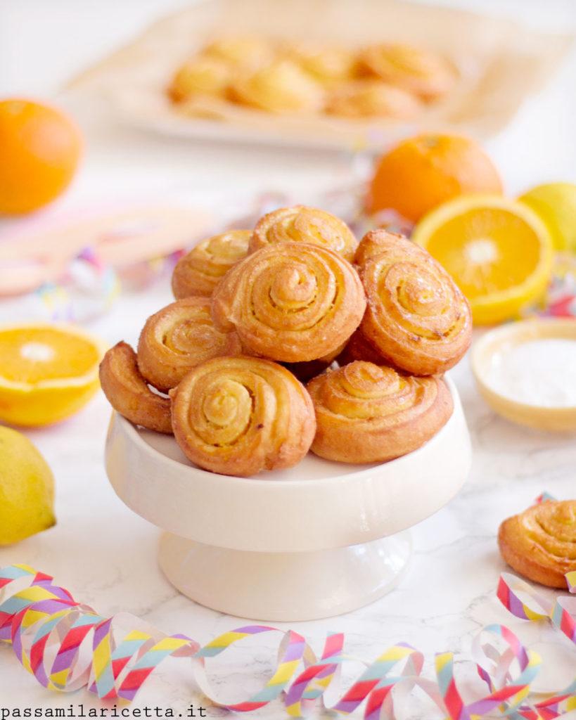 arancini di carnevale arancia e limone dolce marchigiano