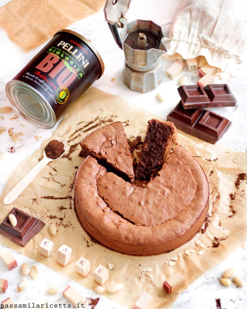 torta al cioccolato e caffe senza farina e senza glutine