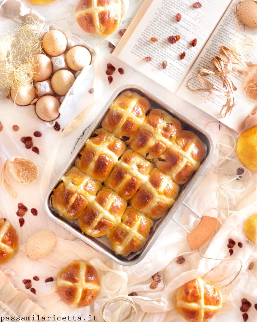 hot cross buns panini dolci di pasqua