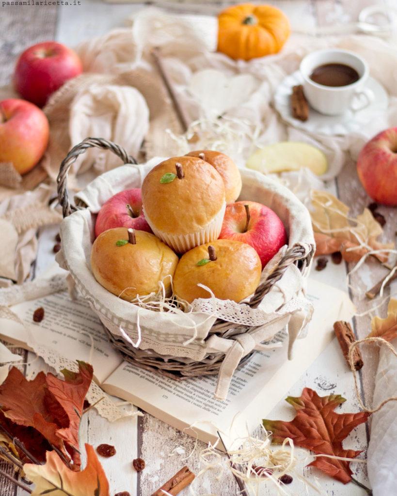 panini dolci alle mele con crema pasticcera sofficissimi