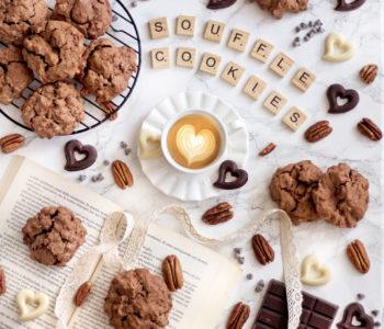 biscotti souffle al cioccolato senza glutine