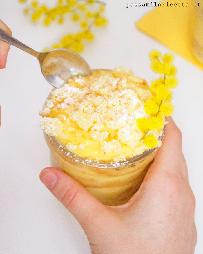 torta mimosa ricetta facile barattolo