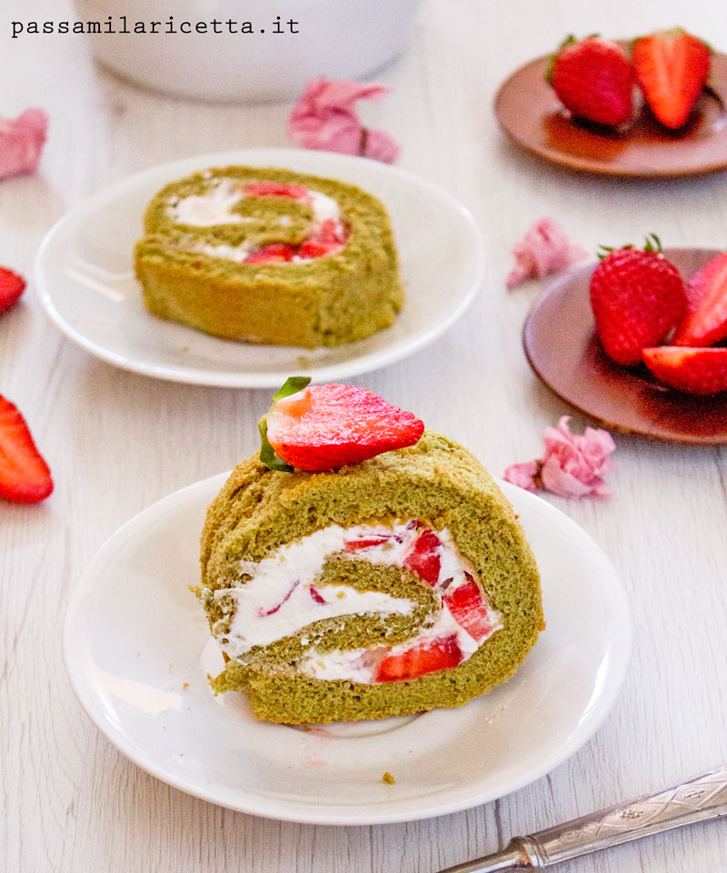 matcha roll cake dolce giapponese ricetta