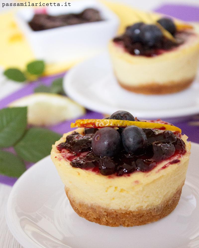 mini cheesecake mirtilli ricetta