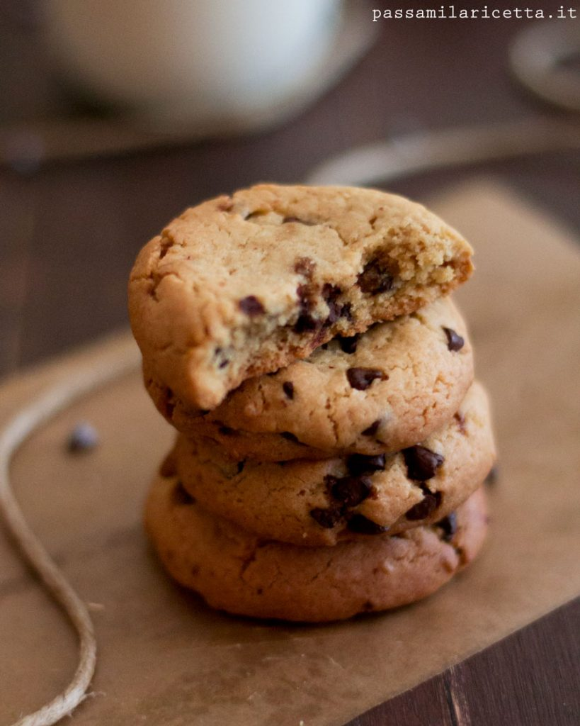 Chocolate chip cookies senza burro