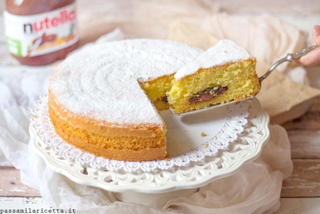 torta alla nutella soffice veloce facile