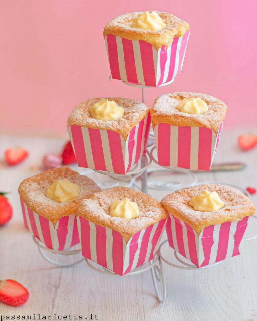 hokkaido chiffon cupcakes ricetta