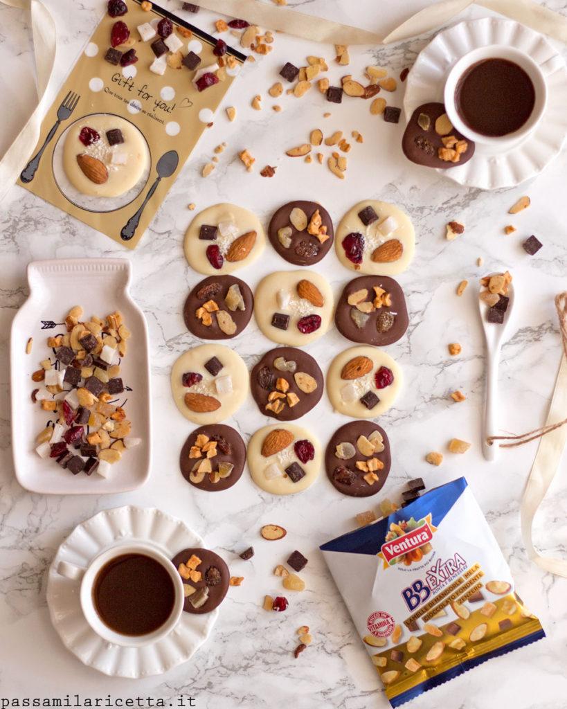 mendiants di cioccolato e frutta secca cioccolatini fai da te