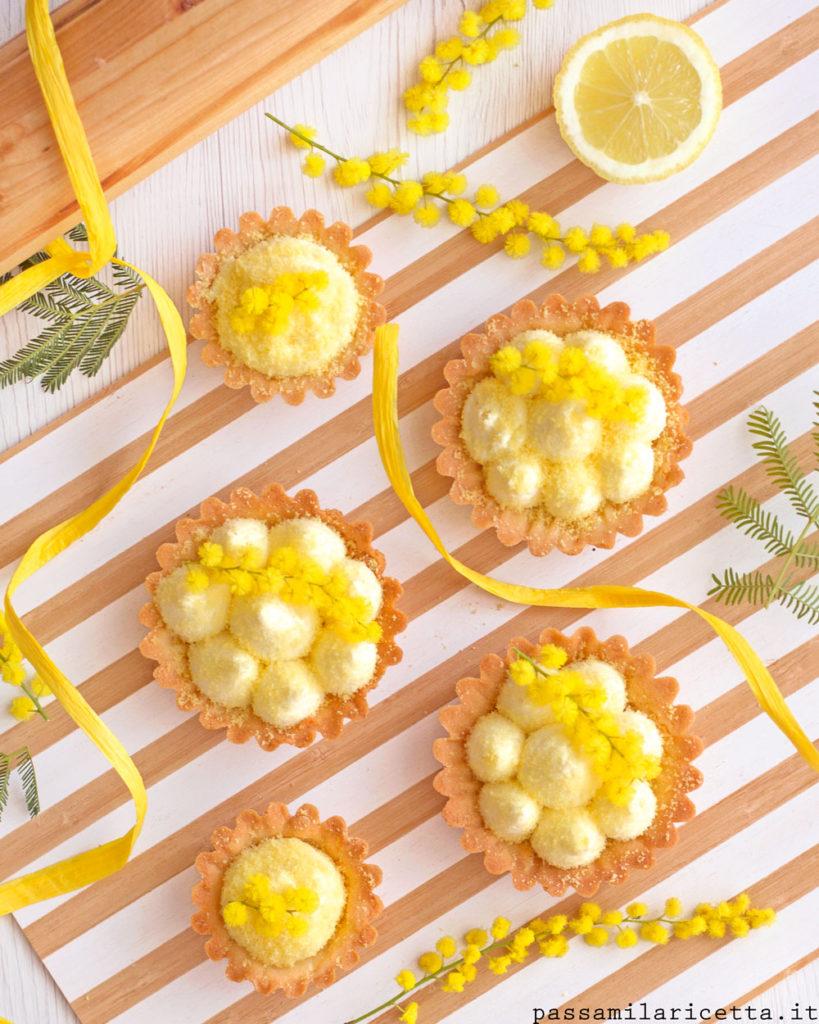 tartellette con namelaka al limone dolci 8 marzo