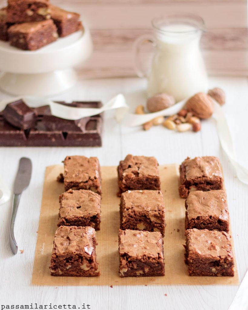 brownies al cioccolato senza burro ricetta americana