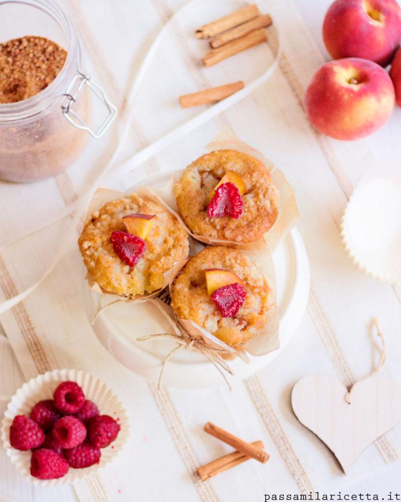 muffin alle pesche e lamponi senza burro e latte