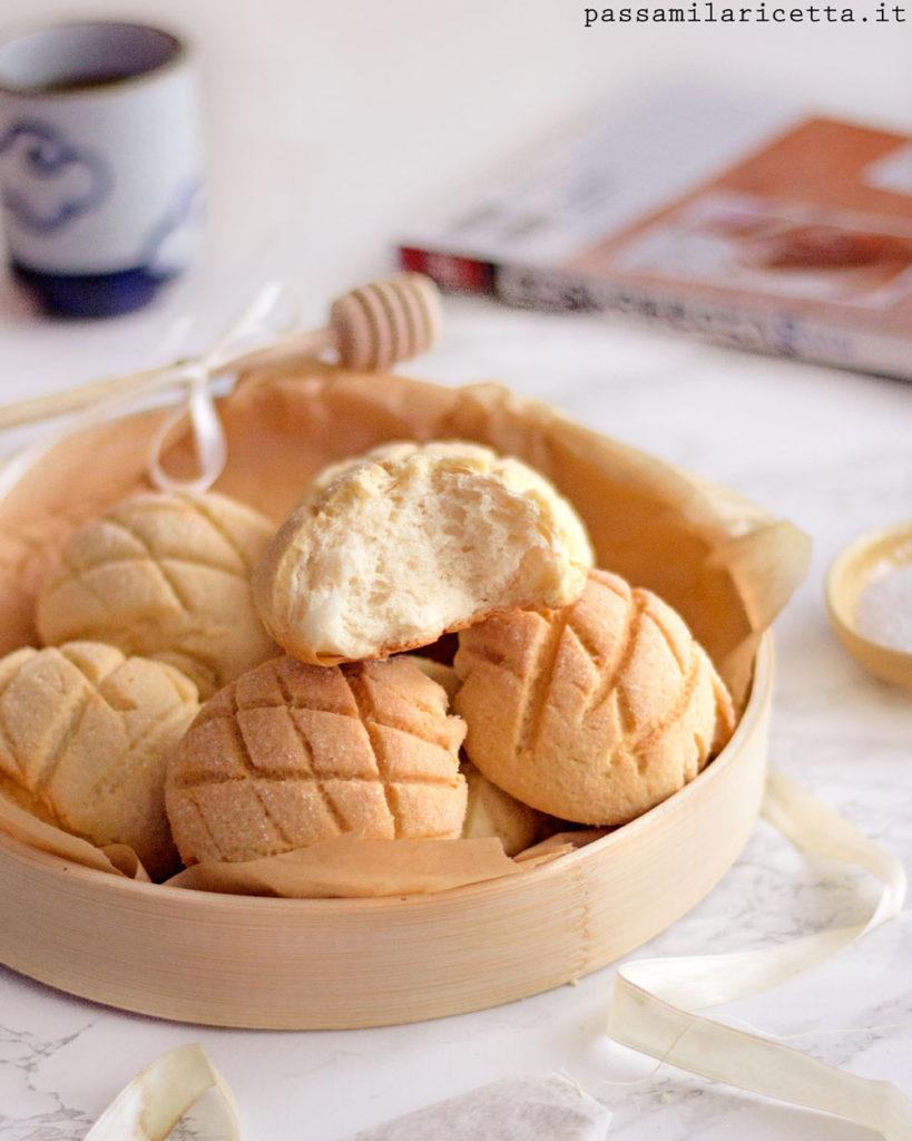 melon pan pane dolce giapponese メロンパン ricetta
