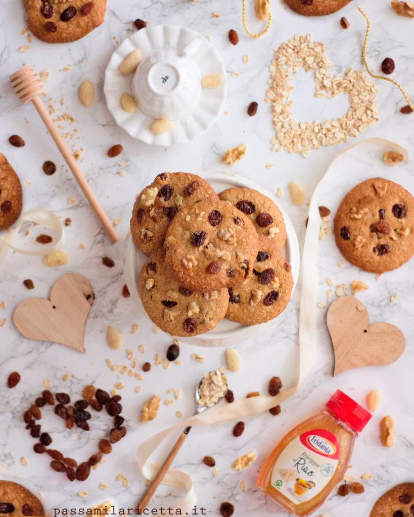 oatmeal raisin cookies vegan e senza zucchero