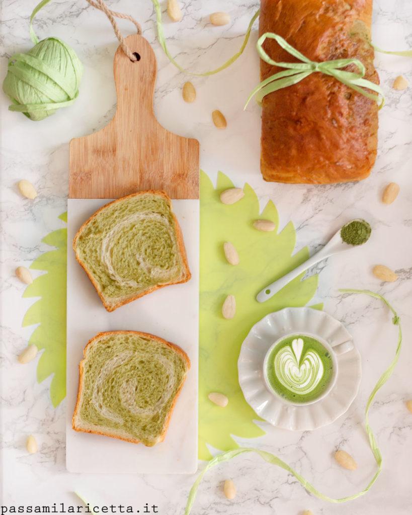 matcha swirl bread con metodo tang zhong