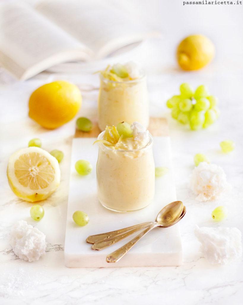 mousse al succo di frutta dessert senza uova e glutine