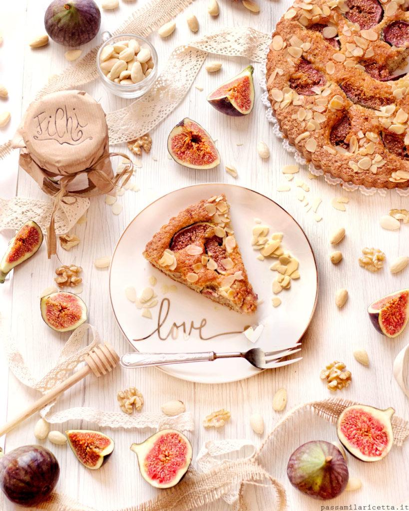 torta di fichi freschi e mandorle di donna hay