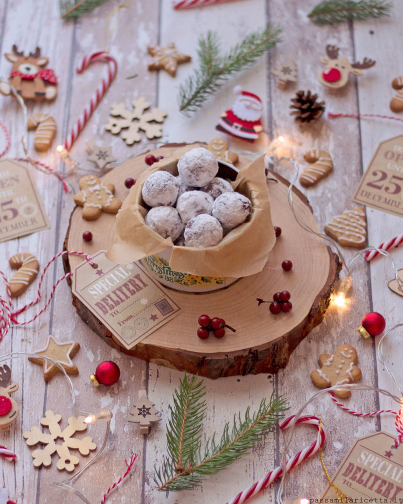 whiskey snowballs tartufini al wafer senza cottura