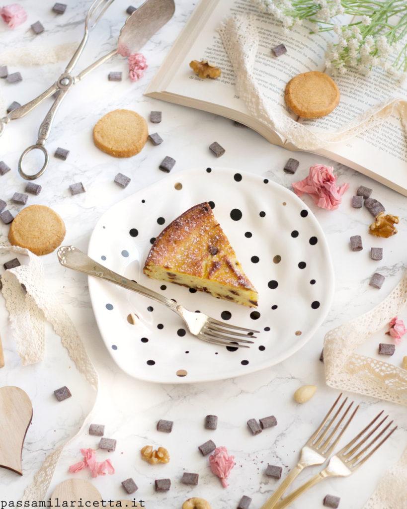 torta cremosa di ricotta e cioccolato senza glutine